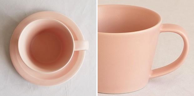 SAKUZAN 作山窯 美濃焼 Sara コーヒーカップ&ソーサー ペア 木箱入り プレート 食器 日本製 和食器 手仕事 うつわ 器 手作り 贈り物 結婚祝い