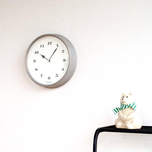 KATOMOKU muku round wall clock 3 グレー