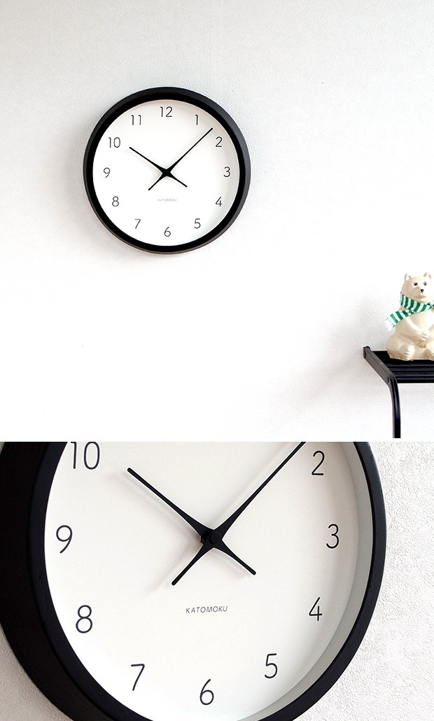 KATOMOKU muku round wall clock 7