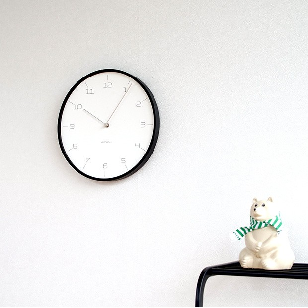 KATOMOKU plywood wall clock 7 SLIM CLOCK