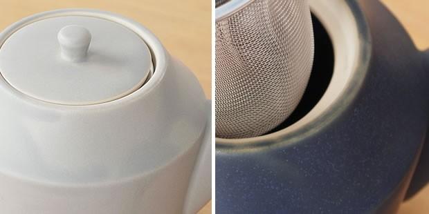 作山窯 SAKUZAN 美濃焼 Sara ポット ティーポット 茶こし付 カフェ おうちカフェ 陶器 食器 日本製 和食器 手仕事 うつわ 器 手作り 贈り物