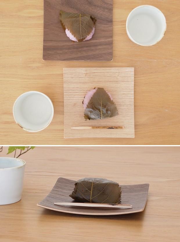 木製食器 皿 プレート 木製 食器 四角 スクエア 正方形 14cm 日本製 Natural Plywood Dish Square S GOLD CRAFT ゴールドクラフト