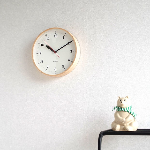 KATOMOKU plywood wall clock 10  ナチュラル