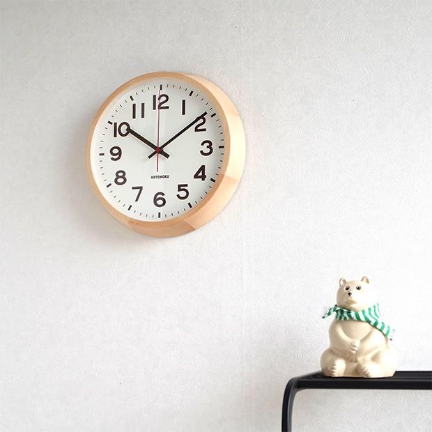 KATOMOKU muku round wall clock 10 ナチュラル
