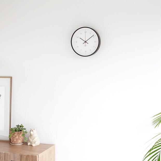 加藤木工 カトモク KATOMOKU plywood wall clock 16 ブラウン 掛時計 壁掛け スイープムーブメント 連続秒針 電波時計
