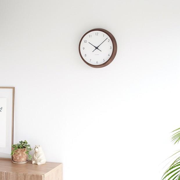 加藤木工 カトモク KATOMOKU muku round wall clock 7 ウォールナット 電波時計 壁掛け スイープムーブメント