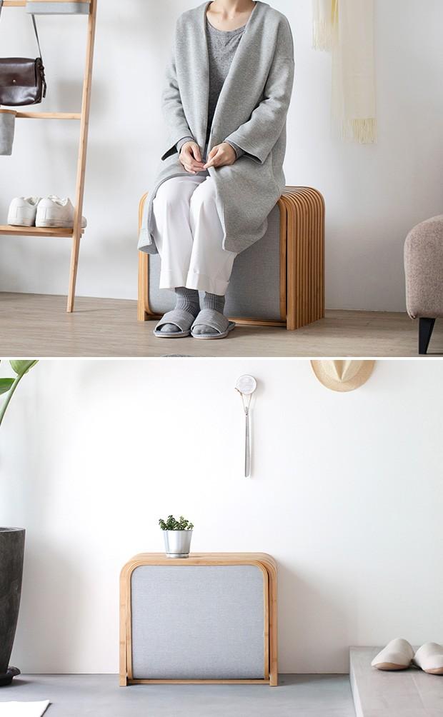 GUDEE 収納ベンチ 収納ボックス 玄関 ベンチ 収納 スツール 木製 竹 バンブー 布 Tolin-Storage bench GudeeLife GUDEE