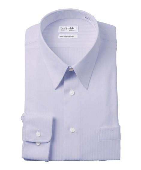 トップス・ワイシャツ|ノーアイロン長袖ストレッチiシャツ 伸びる ビジネス ワイシャツ M-10L レギュラーカラー 大きいサイズ メンズ はるやま i-Shirt アイシャツ ニッセン(パープル)