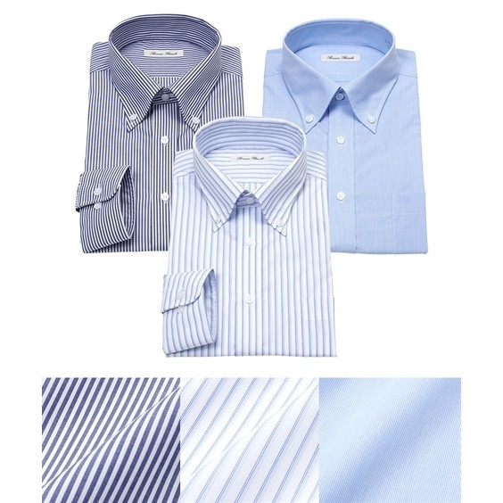 長袖ワイシャツ3枚セット メンズ M-8L ボタンダウン 抗菌防臭・形態安定長袖ワイシャツ3枚組 まとめ買いでお買い得! 大きいサイズ メンズ 送料無料 faz-store 09