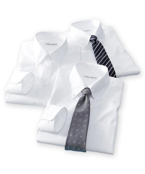 トップス・ワイシャツ|長袖ワイシャツ3枚セット メンズ M-8L ボタンダウン 抗菌防臭・形態安定長袖ワイシャツ3枚組 まとめ買いでお買い得! 大きいサイズ メンズ ニッセン(白)