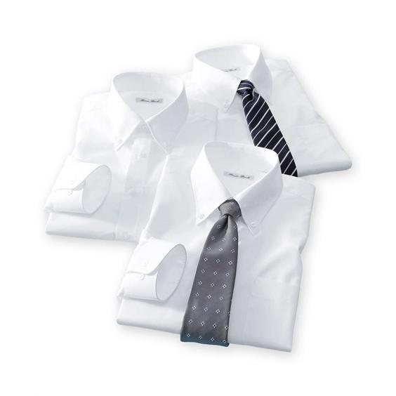 長袖ワイシャツ3枚セット メンズ M-8L ボタンダウン 抗菌防臭・形態安定長袖ワイシャツ3枚組 まとめ買いでお買い得! 大きいサイズ メンズ 送料無料|faz-store|06