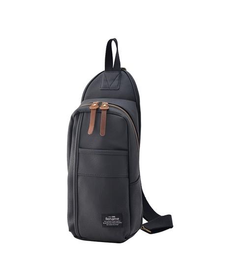 バッグ(鞄)|【イチ押し】 リネーム(Rename)  合皮スマートボディバッグ ニッセン nissen(ブラック)