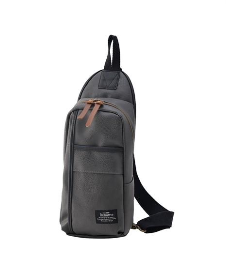 バッグ(鞄)|【イチ押し】 リネーム(Rename)  合皮スマートボディバッグ ニッセン nissen(グレー)