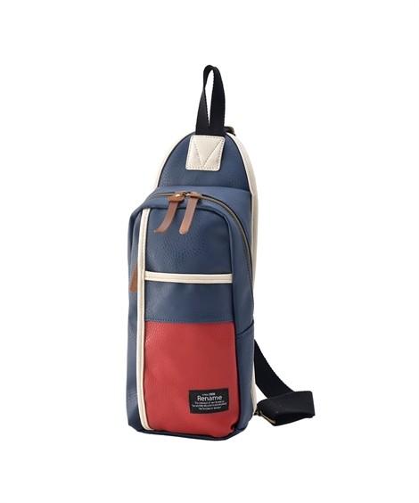 バッグ(鞄)|【イチ押し】 リネーム(Rename)  合皮スマートボディバッグ ニッセン nissen(トリコロール)