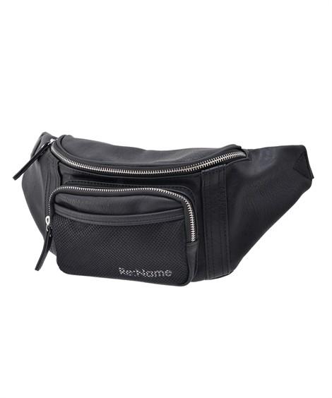 バッグ(鞄)|【イチ押し】 リネーム(Rename)  メッシュ ウエストバッグ ニッセン nissen(ブラック)