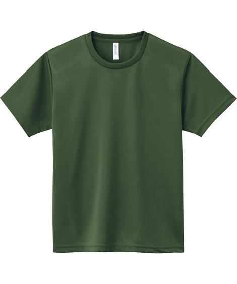トップス・ワイシャツ 大きいサイズ メンズ クルーネックTシャツ S-5L 吸汗速乾・UVカット 裏面メッシュ半袖クルーネックTシャツ ニッセン(オリーブ)