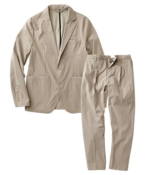 スーツ・スラックス|セットアップスーツ メンズ M-4L ストレッチ素材セットアップスーツ(ジャケット+パンツ) 大きいサイズ メンズ 上下セットでお買い得! ニッセン(ベージュ)