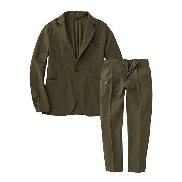 セットアップスーツ メンズ M-4L ストレッチ素材セットアップスーツ(ジャケット+パンツ) 大きいサイズ メンズ 上下セットでお買い得 送料無料|faz-store|20