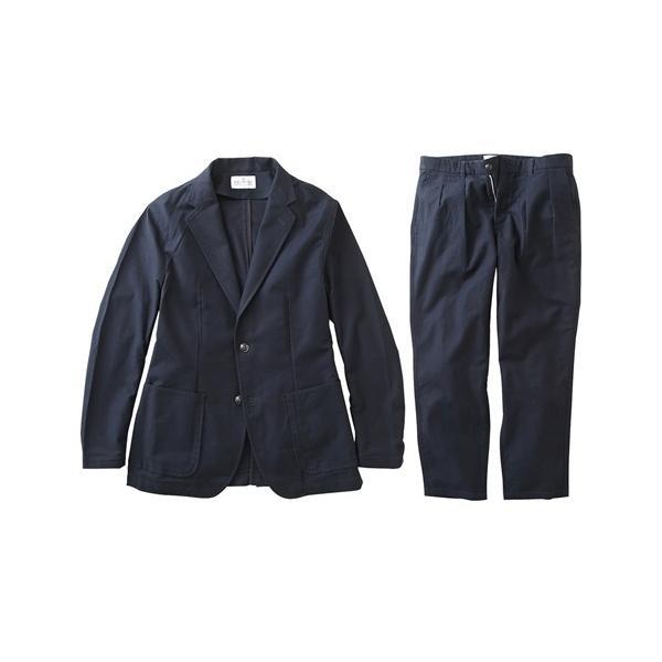 セットアップ スーツ メンズ M-LL 微起毛素材カジュアルセットアップスーツ(ジャケット+ツータックパンツ) 上下セットでお買い得! ニッセン faz-store 12