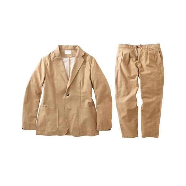 セットアップ スーツ メンズ M-LL 微起毛素材カジュアルセットアップスーツ(ジャケット+ツータックパンツ) 上下セットでお買い得! ニッセン faz-store 13
