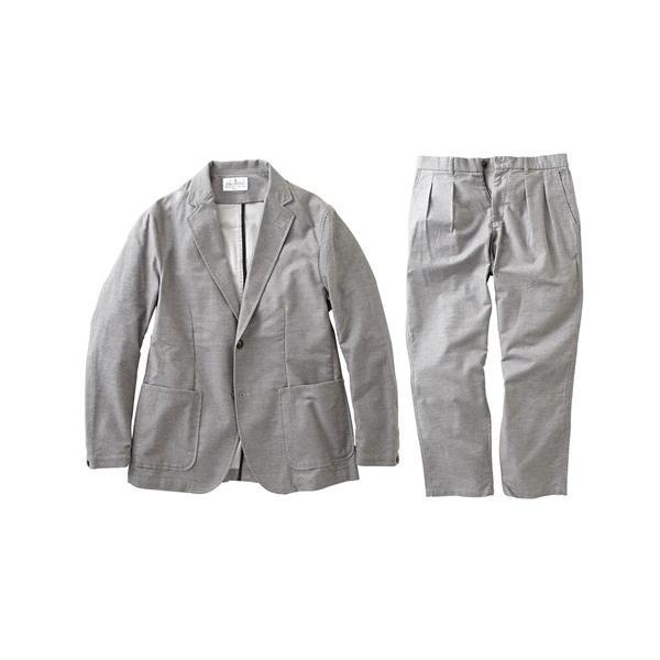 セットアップ スーツ メンズ M-LL 微起毛素材カジュアルセットアップスーツ(ジャケット+ツータックパンツ) 上下セットでお買い得! ニッセン faz-store 14