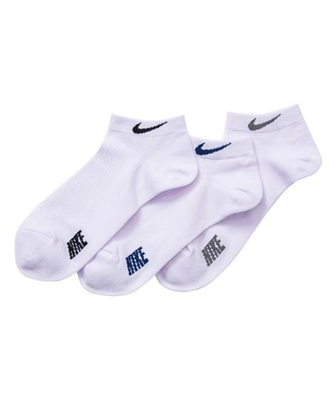 靴下(ソックス)|ナイキ(NIKE) ロゴショートソックス3足組(シンプルベーシック) メンズ まとめ買いでお買い得! ロゴがシンプルなので短丈ボトムスとも合わせ易い ニッセン(白3足組)