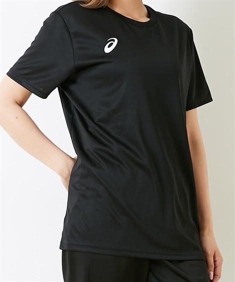 スポーツウェア アシックス(asics) OPショートスリーブトップ(男女兼用) メンズ レディス M-3XL(4L) 大きいサイズ メンズ 半袖Tシャツ ニッセン(Pブラック×BW)