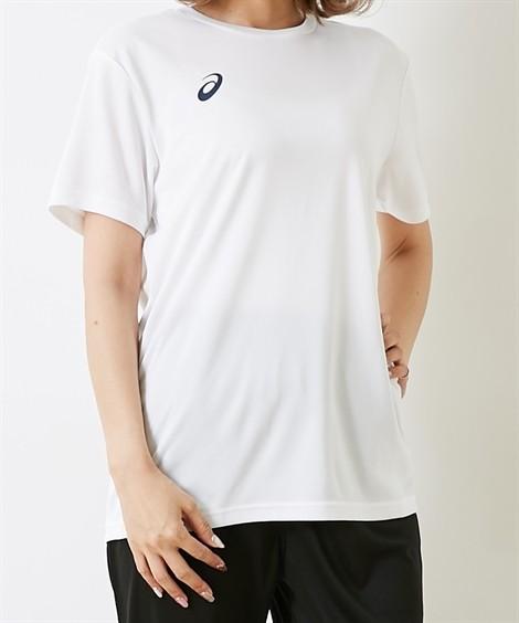 スポーツウェア アシックス(asics) OPショートスリーブトップ(男女兼用) メンズ レディス M-3XL(4L) 大きいサイズ メンズ 半袖Tシャツ ニッセン(Bホワイト×PC)