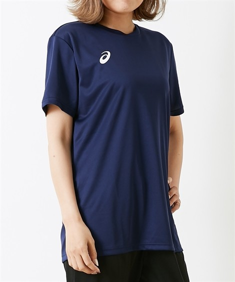 スポーツウェア アシックス(asics) OPショートスリーブトップ(男女兼用) メンズ レディス M-3XL(4L) 大きいサイズ メンズ 半袖Tシャツ ニッセン(ピーコート×BW)