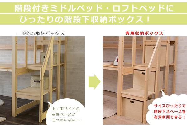 階段下収納ボックス 収納ケース 階段付きロフトベッド
