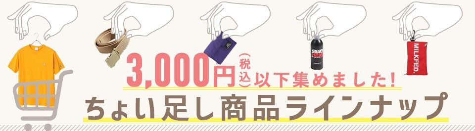 3000円以下商品ラインナップ