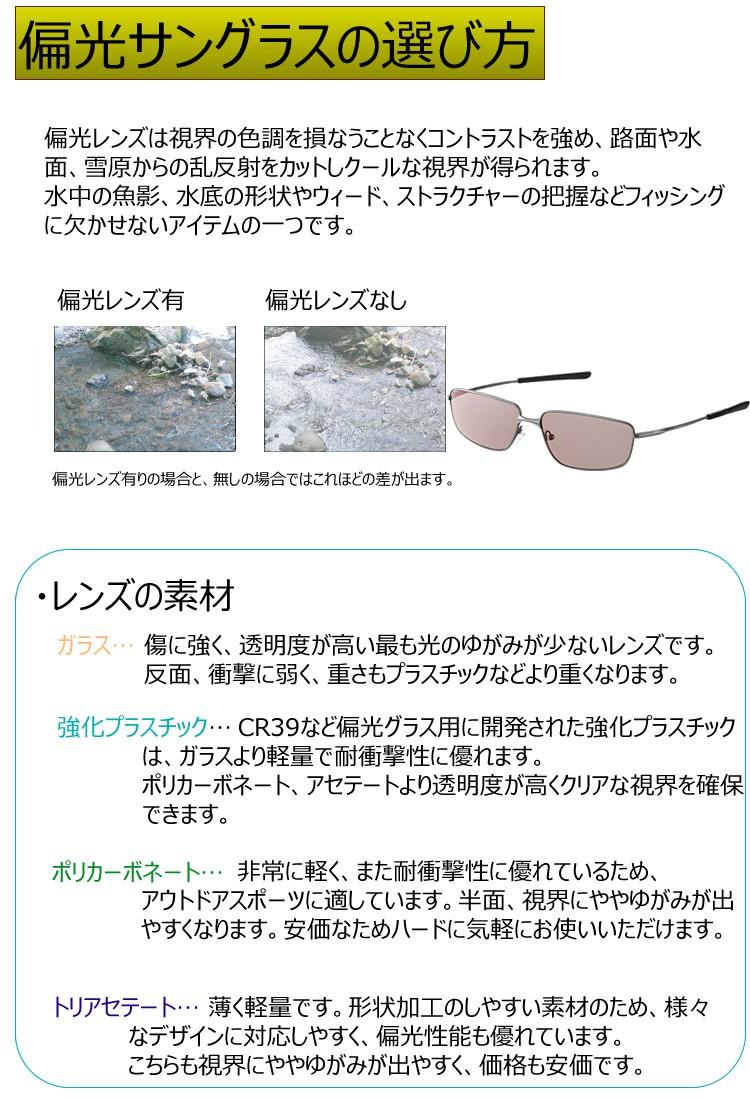 偏光サングラスの選び方,サングラスについて,レンズについて