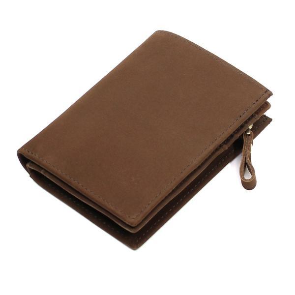 (訳あり品)財布 メンズ 二つ折り財布 本革 日本製 男女兼用 魅革(mikawa) L字ファスナー式 メンズ財布 イタリア製オイルヌバックレザー 小銭入れ付き|fizi|22