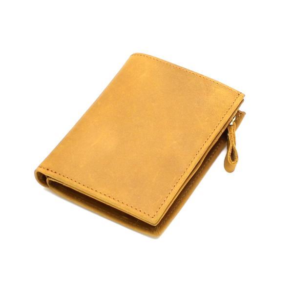 (訳あり品)財布 メンズ 二つ折り財布 本革 日本製 男女兼用 魅革(mikawa) L字ファスナー式 メンズ財布 イタリア製オイルヌバックレザー 小銭入れ付き|fizi|21