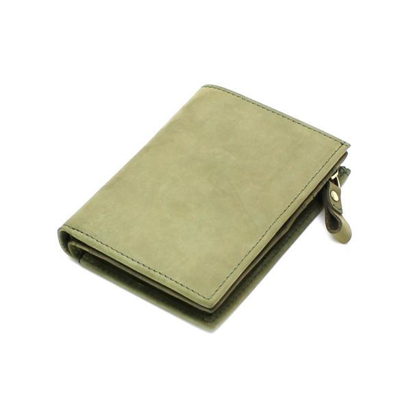 (訳あり品)財布 メンズ 二つ折り財布 本革 日本製 男女兼用 魅革(mikawa) L字ファスナー式 メンズ財布 イタリア製オイルヌバックレザー 小銭入れ付き|fizi|25
