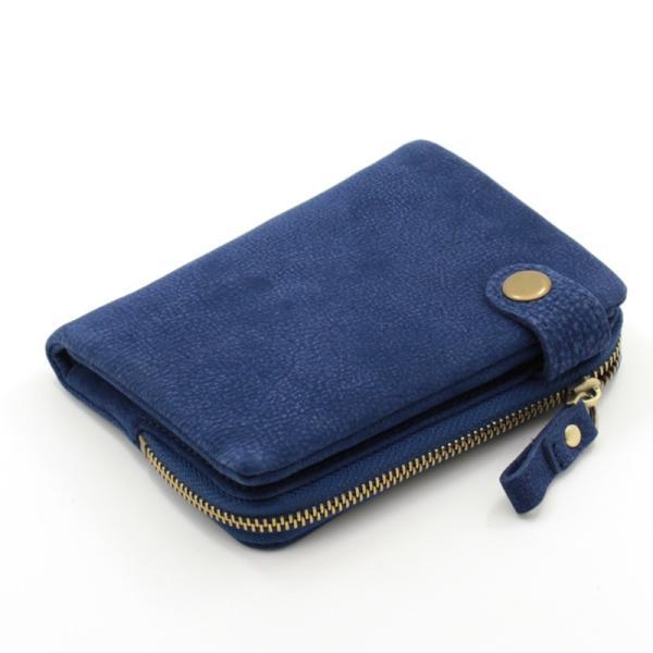 財布 メンズ 二つ折り 日本製 フォリエノ Folieno 本革 カーフ スウェード U字ファスナー tg003c キャメル ブラック ブルー グリーン|fizi|20