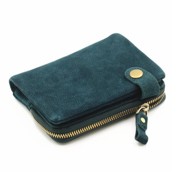 財布 メンズ 二つ折り 日本製 フォリエノ Folieno 本革 カーフ スウェード U字ファスナー tg003c キャメル ブラック ブルー グリーン|fizi|21