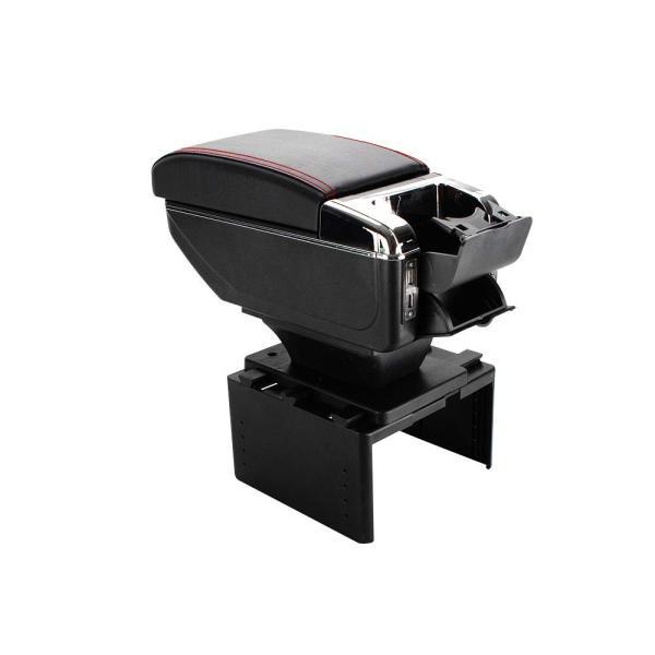 車 アームレスト 多機能 汎用 クッション 肘掛け 伸縮 収納 コンソールボックス ドリンクホルダー 灰皿 2層式 USB 内装 カー用品 ドライブ ee198|fkstyle|12