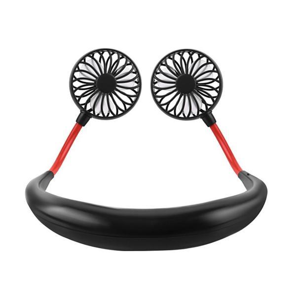 首かけ 首掛け 扇風機 ポータブル ハンディ ファン 携帯 ハンズフリー ダブルファン USB 充電式 持ち運び コンパクト ny100|fkstyle|12