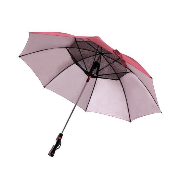 かさ 日傘 扇風機 晴雨兼用 UVカット 長傘 雨傘 遮光 紫外線対策 熱中症対策 メンズ レディース ネット付き 涼しい ny194 fkstyle 13
