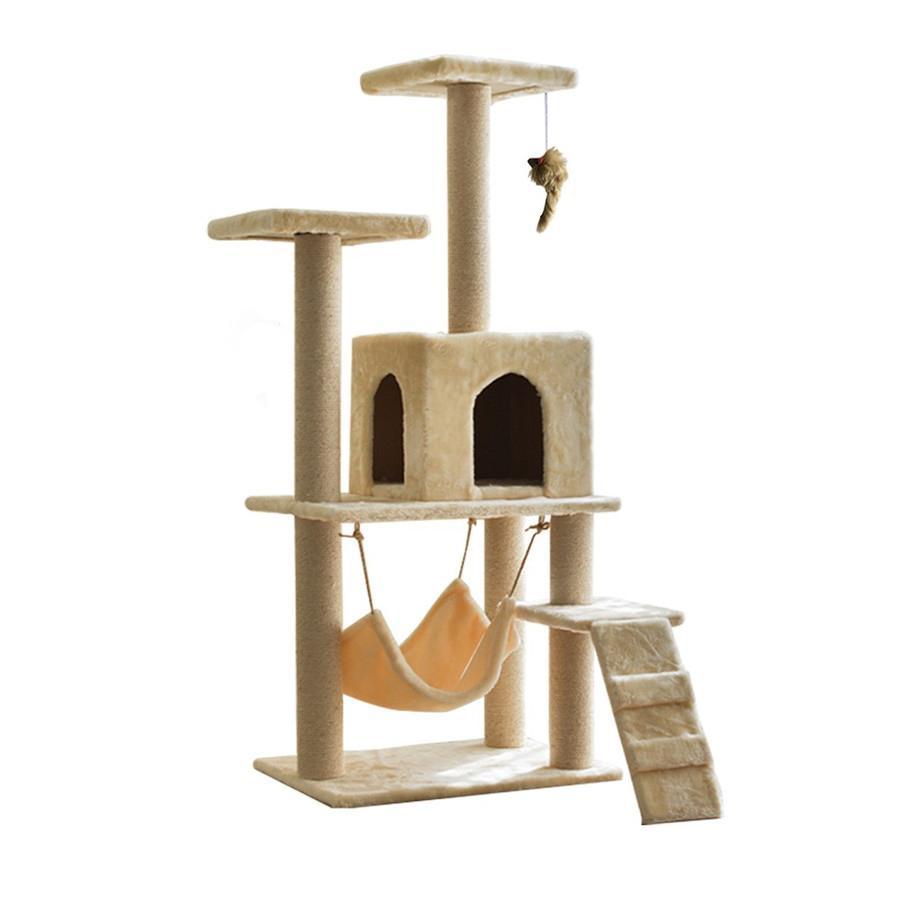 キャットタワー 据え置き型 大型 爪とぎ 麻紐 省スペース ハウス 運動不足 ストレス解消 ハンモック 階段 隠れ家 おしゃれ ペット 猫用品 pt027 fkstyle 13