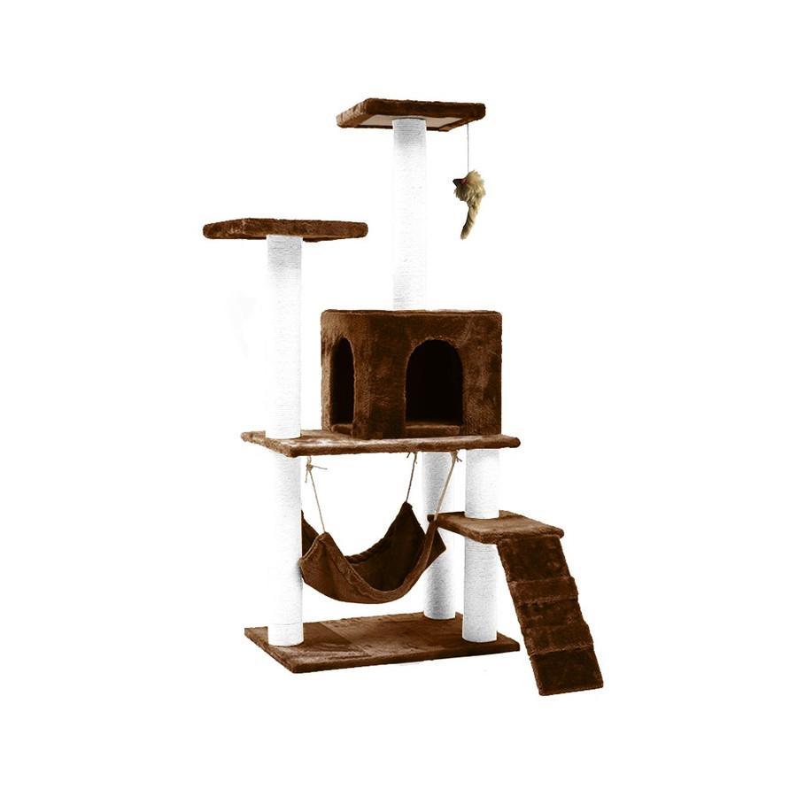 キャットタワー 据え置き型 大型 爪とぎ 麻紐 省スペース ハウス 運動不足 ストレス解消 ハンモック 階段 隠れ家 おしゃれ ペット 猫用品 pt027 fkstyle 15