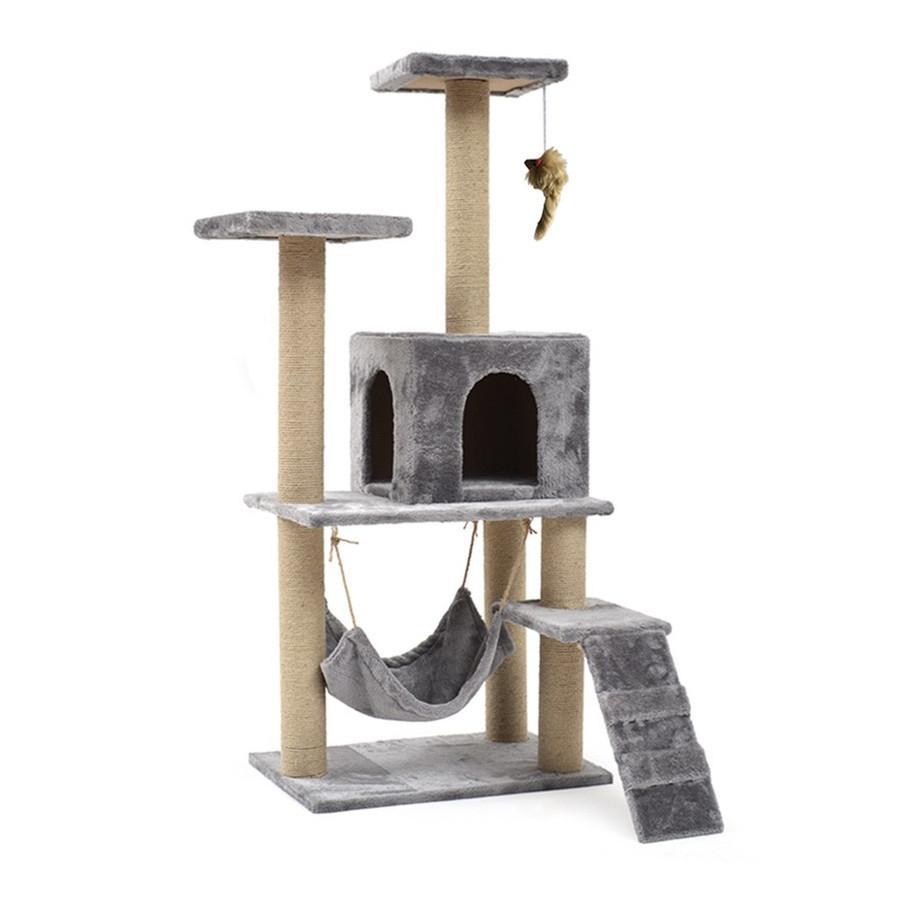 キャットタワー 据え置き型 大型 爪とぎ 麻紐 省スペース ハウス 運動不足 ストレス解消 ハンモック 階段 隠れ家 おしゃれ ペット 猫用品 pt027 fkstyle 14
