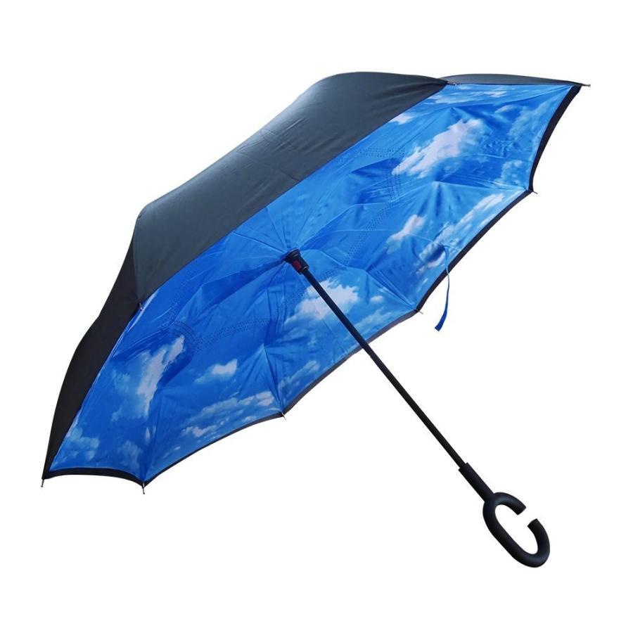 逆さ傘 傘 晴雨兼用 日傘 逆さになる傘 さかさま傘 レディース メンズ 日焼け対策 UVカット 逆折り 逆向き 長傘 濡れない zk095|fkstyle|13