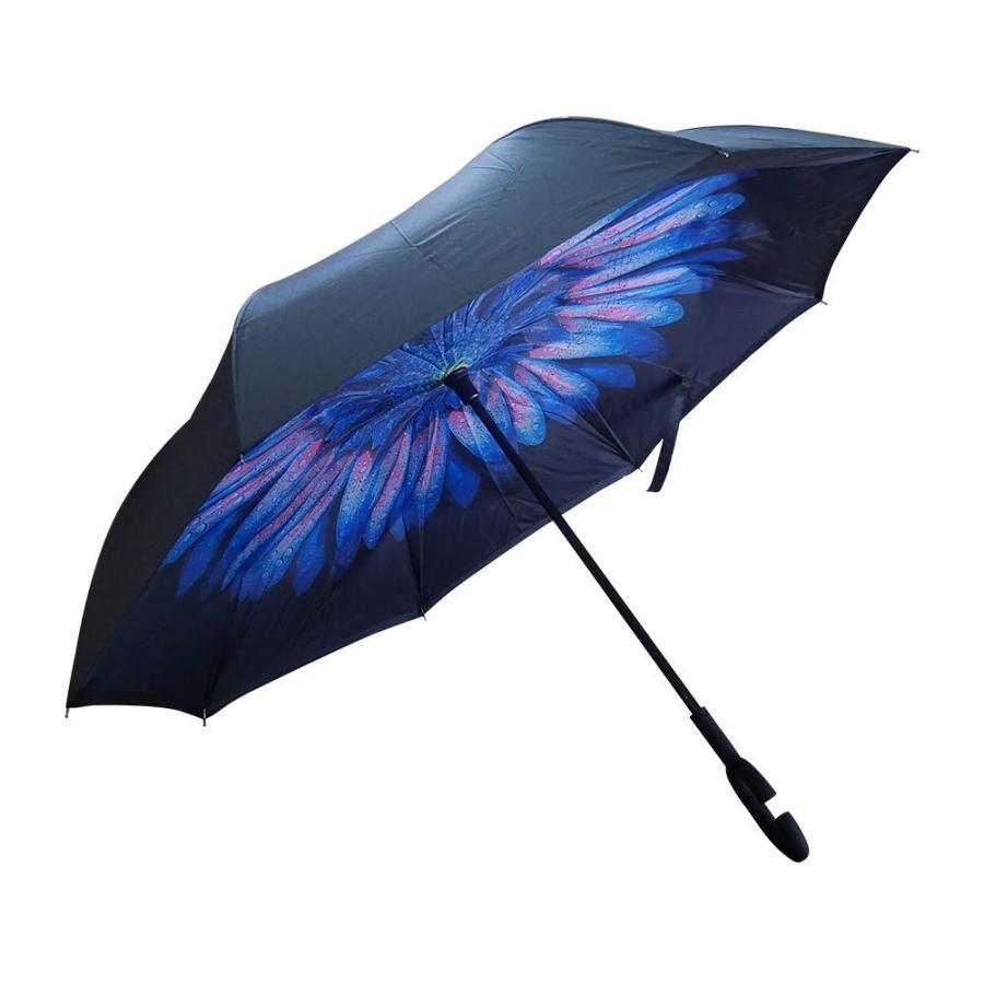 逆さ傘 傘 晴雨兼用 日傘 逆さになる傘 さかさま傘 レディース メンズ 日焼け対策 UVカット 逆折り 逆向き 長傘 濡れない zk095|fkstyle|14