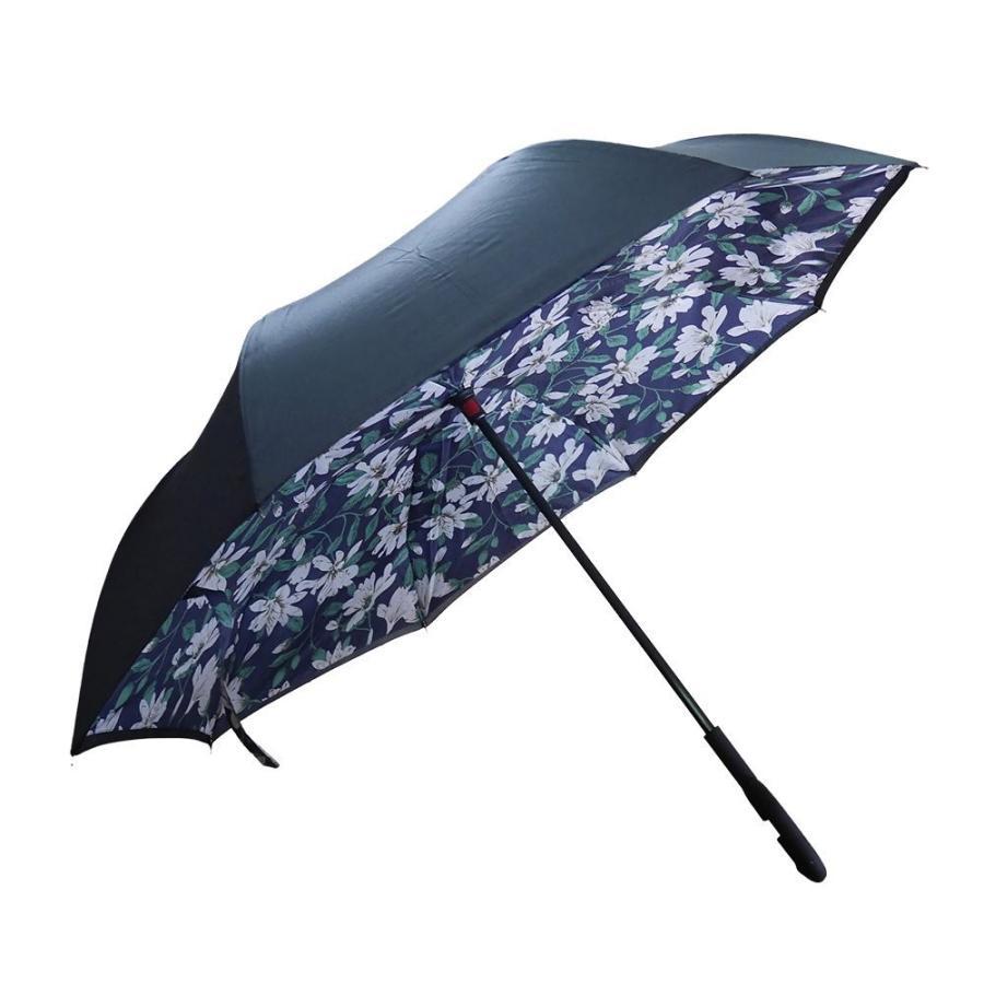 逆さ傘 傘 晴雨兼用 日傘 逆さになる傘 さかさま傘 レディース メンズ 日焼け対策 UVカット 逆折り 逆向き 長傘 濡れない zk095|fkstyle|15