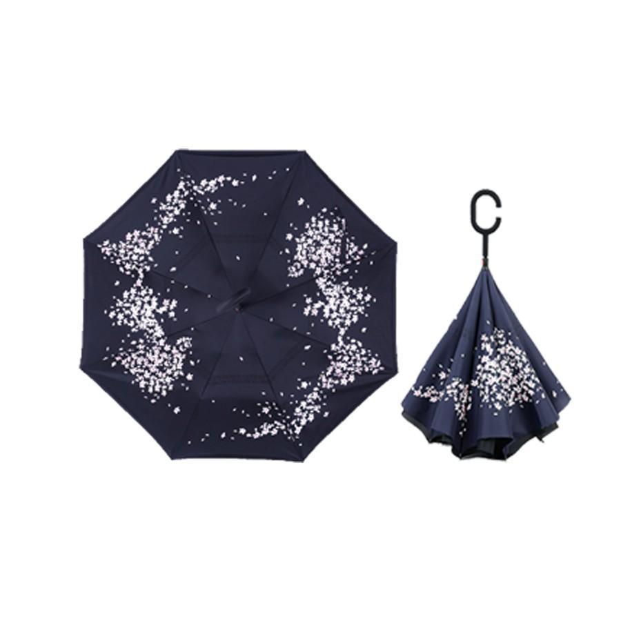 逆さ傘 傘 晴雨兼用 日傘 逆さになる傘 さかさま傘 レディース メンズ 日焼け対策 UVカット 逆折り 逆向き 長傘 濡れない zk095|fkstyle|17