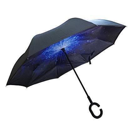 逆さ傘 傘 晴雨兼用 日傘 逆さになる傘 さかさま傘 レディース メンズ 日焼け対策 UVカット 逆折り 逆向き 長傘 濡れない zk095|fkstyle|18
