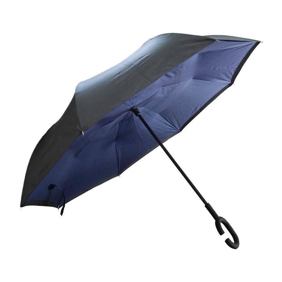逆さ傘 傘 晴雨兼用 日傘 逆さになる傘 さかさま傘 レディース メンズ 日焼け対策 UVカット 逆折り 逆向き 長傘 濡れない zk095|fkstyle|19