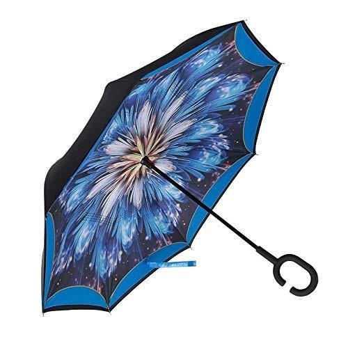 逆さ傘 傘 晴雨兼用 日傘 逆さになる傘 さかさま傘 レディース メンズ 日焼け対策 UVカット 逆折り 逆向き 長傘 濡れない zk095|fkstyle|20